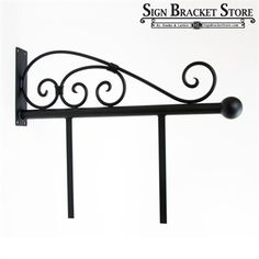 """Fixed Mount Sign Bracket   33"""" Classic Sign Bracket with mounting bars"""