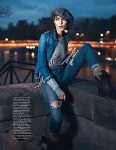 #EDITORIAL - Estilo work navy na Vogue Paris - www.guiajeanswear.com.br - #GuiaJeansWear : O Portal do #Jeans