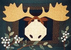 Moose on the Loose Wall Quilt Pattern