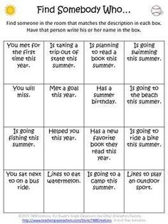 End of the Year Activities: Finish the year right and head into summer with these fun End of Year printable activities and worksheets! In this product you will receive the following printable activities and worksheets: This School Year… Reflection Worksheet Find Somebody Who… Activity Summer Acrostic Poem Worksheet 5 Writing Prompt Worksheets End of Year A-Z Worksheet End of Year Venn diagram Worksheet My Summer Bucket List Worksheet Summer Reading Log Autographs Page Summer Unscramble…