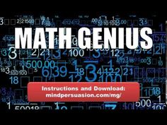 Math Genius   Unleash Your Brilliance   Solve All Problems Quickly and E...