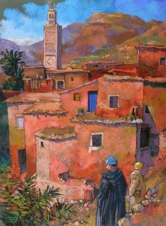 Pastels 3 - patrick-martin Arabian Theme, Arabian Art, Patrick Martin, Urban Sketching, Art Inspo, Egypt, Fairy Tales, Illustration Art, Watercolor