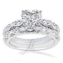 Bon Wedding Bands For Heart Shaped Engagement Rings