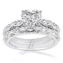 Heart Shaped Wedding Ring Sets staruptalentcom