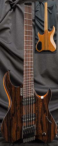 Kiesel Guitars VM6 Vader 6-String Headless Multiscale Guitar Serial Number 132588