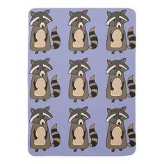 Funky Raccoon Baby Blanket #raccoons #cute #baby #blankets And www.zazzle.com/tickleyourfunnybone*