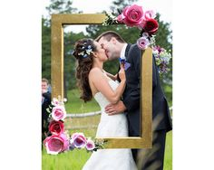 Your event deserves unforgettable photographs, and this fine art photo frame is the way to make that happen. I handcraft this frame with meticulous attention to detail, and I match your vision for the perfect product. This particular listing has 3D hand-made roses in 3 shades of pink. They are gorgeously surrounded by green and white l leaves. No matter what color scheme your bride has for her wedding, I can make it happen, and shell have a photo accessory like no one else has had before…