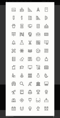back to school icon set is a collection of colorful and grey.eb templates, prints, posters, invitations cards and more. Robot Icon, School Icon, Icon Set, Invitation Cards, Back To School, Templates, Math Equations, Prints, Stencils