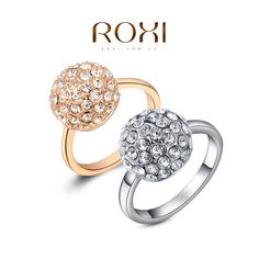 ROXI Gifts Genuine Austrian Crystals Rings Top Quality Beautiful, 100% Hand Madeball Jewelry,2010001330