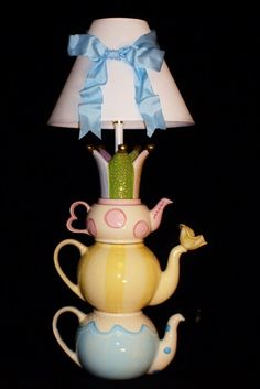 Tea Party Teapot Lamp. $125.00, via Etsy.
