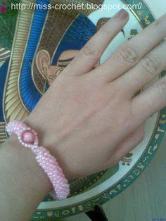 Ms.crochet: Beaded crochet rope