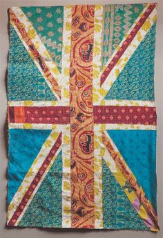 the Union Jack flag, patchwork Flag Quilt, Quilt Blocks, Union Jack, Textile Art, Fabric Crafts, Fiber Art, Just In Case, Quilt Patterns, Sewing Projects