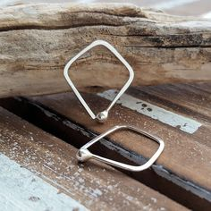 Triangle Hoops - Artisan Earrings by Rocki