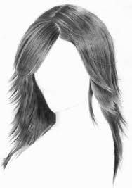how to draw soft wavy hair step by step