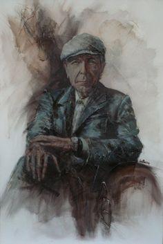 Leonard Cohen (love!)  by Rémi LaBarre, 1977 pinner El Ahwagi...resurrected