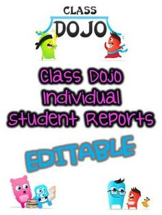 Class Dojo Report- Editable ONLY $1 !!!!!