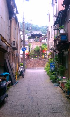 Alley Onomichi Hiroshima Japan