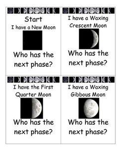 Primary homework help moon phases