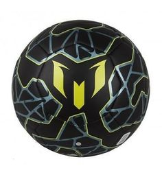 Adidas Messi Q3 Soccer Ball Black / Bright Yellow / Matt Ice Met Messi Messi sets the bar for ball-handling skills, and this Messi-inspired football is up for the challenge on game day and for practis