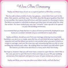{Wine Box Ceremony} » Serendipity Designs Weddings & Events Pensacola Wedding Planner Destin Wedding Planner