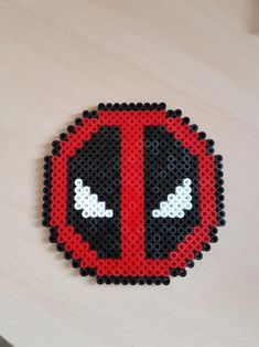 Deadpool Hama by Lamalpaga on DeviantArt Mini Hama Beads, Diy Perler Beads, Perler Bead Art, Fuse Beads, Easy Perler Bead Patterns, Fuse Bead Patterns, Perler Bead Templates, Beading Patterns, Deadpool