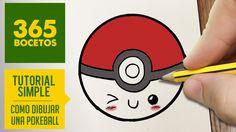 COMO DIBUJAR UNA POKEBALL KAWAII PASO A PASO - Dibujos kawaii faciles - How to draw a pokeball - YouTube