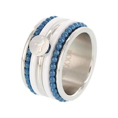 iXXXi ring silver blue crown