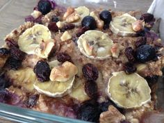 blueberry banana havermout uit de oven