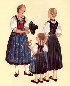 FolkCostume&Embroidery: Costumes of Tyrol Austria, Costumes, Traditional, Embroidery, Disney Princess, Disney Characters, German, Southern, Clothes