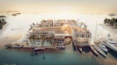 Dubai plans another ambitious attraction. This time, it's a floating luxury resort that replicates Venice. One deck will be underwater. Dubai Resorts, Hotels And Resorts, Luxury Resorts, Hotel Subaquático, Underwater Hotel Room, Floating Hotel, Heart Of Europe, Unique Hotels, Asia Travel