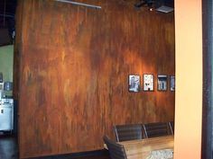 Modern Masters Metal Effects Reactive Paint with iron/rusted finish Antique Fireplace Mantels, Antique Mantel, Fireplace Ideas, Faux Painting, Diy Painting, Rust Paint, Ceiling Murals, Modern Masters, Paint Effects