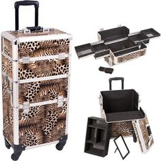 Sunrise Outdoor Travel Professional Cosmetic Holder Leopard Trolley Makeup Case - I3161 >>> To view further, visit http://www.amazon.com/gp/product/B00EPIL5NY/?tag=makeuptips3-20&pop=190816061535