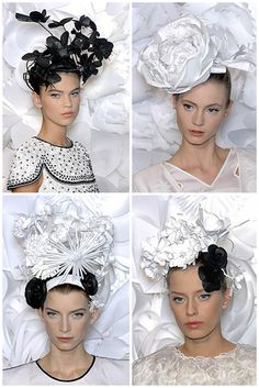flowers and butterflies headpieces