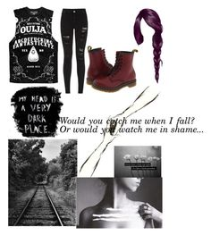 """I am lost in my own mind..."" by lovinme818 ❤ liked on Polyvore featuring Parisian, Alasdair and Dr. Martens"