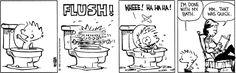 Calvin takes a short bath
