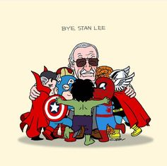 Remembering Stan Lee: Tributes to the late Marvel legend. - Cool - Check out: 45 Absolutely Breathtaking Tributes To Stan Lee on Barnorama Marvel Dc Comics, Marvel Avengers, Films Marvel, Bd Comics, Marvel Girls, Marvel Fan, Marvel Memes, Baby Marvel, Marvel Heroes