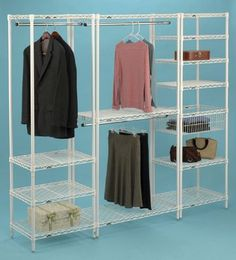 Merveilleux When Apartments Lack Closet Space, Free Standing Shelving With Hanger Tubes  Are The Solution!