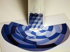 Image result for anamorphic mirror image art for kids