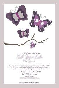 purple butterfly baby shower