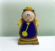 Felt Clock from Beauty and the Beast