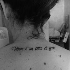 #ligabue #tatuaggio #infinito #vivere