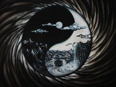 fantasy yin yang | yin yang landscape by Lambtroncorp