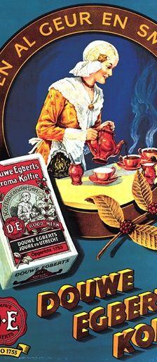 Dutch coffee ad : D.E.   Douwe Egberts