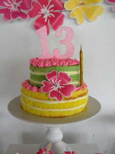"Flamingo tropical  birthday | <a href=""http://CatchMyParty.com"" rel=""nofollow"" target=""_blank"">CatchMyParty.com</a>"