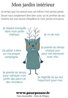 affiche a imprimer chez soi.indd Common French Phrases, Basic French Words, Positive Attitude, Positive Thoughts, Hygge Life, Relaxing Yoga, Relaxation, French Language Learning, Body Is A Temple