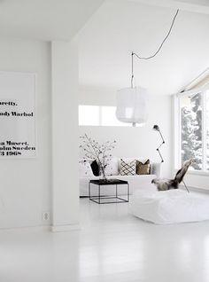Inspiración: Espacios con suelos blancos