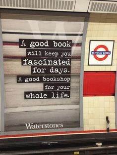 A good book will keep you fascinated for days. A good bookshop for your whole life!