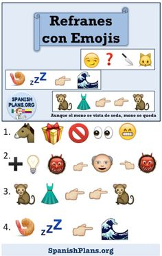 Spanish Idioms as told through emojis. Can you figure these out?