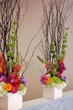 43 new ideas for flowers arrangements tall ikebana Modern Floral Arrangements, Wedding Flower Arrangements, Floral Centerpieces, Wedding Centerpieces, Wedding Table, Wedding Flowers, Wedding Decorations, Table Centerpieces, Wedding Ceremony