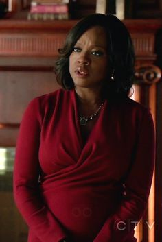 Annalise Keating wearing  Alexander McQueen Fitted Wrap Front Dress